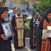 Sute de clujeni s-au închinat la sfintele moaşte aduse de la Schitul românesc Prodromu