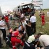 Accident cu un autocar plin de pasageri la Saula
