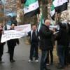 Sirienii din Cluj au protestat faţă de regimul Bashar al-Assad