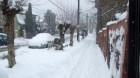 Iarna ca iarnă, la Dej