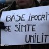 """A 60-a zi de proteste, la Cluj: """"Băsescu ipocrit/ Se simte umilit"""""""