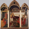 Naşterea Fecioarei pictată de Pietro Lorenzetti de la Muzeul Catedralei din Siena
