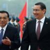 Li Keqiang către Victor Ponta: Sînt convins că vizita dvs va avea un rol important în promovarea relaţiilor chino-europene