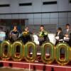 Pasagerul cu numărul 1.000.000 a fost sărbătorit de aeroport cu şase săptămîni mai devreme decît în anul 2013