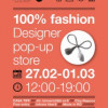 """""""100% Fashion – Pop-up Store"""" promovarea designerilor talentaţi din România"""