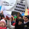 Miting de protest în Cluj-Napoca, pentru conversia în lei a creditelor în valută