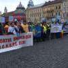 Sindicaliştii clujeni din BNS au ieşit în stradă