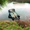 Maşină răsturnată în Someş