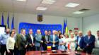 Delegaţie poloneză din Voievodatul Łódzkie la CJ Cluj
