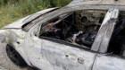 Mașină distrusă de flăcări, la Căianu