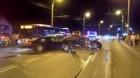 Accident cu trei maşini implicate