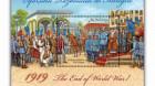 Emisiune de mărci poştale despre sfîrşitul războiului de întregire