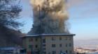 Incendiu de proporții la un imobil din Florești
